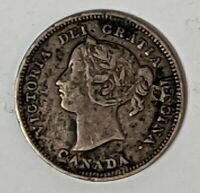 1893 5 CENT CANADA .925 SILVER 186600D
