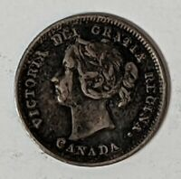 1888 5 CENT CANADA .925 SILVER 186601D