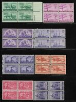 MNH USA US PACKET LOT OF 8 BLOCKS OF 4 ALL DIFFERENT STAMP C