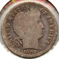 1906-O BARBER SILVER DIME - NEW ORLEANS MINT MC64
