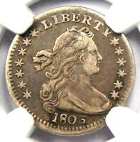 1803 DRAPED BUST HALF DIME H10C   CERTIFIED NGC VF DETAILS    DATE COIN