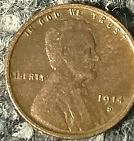 1914 D LINCOLN CENT HIGH GRADE CONDITION