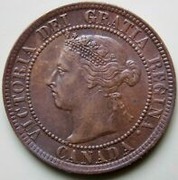 1894 CANADA CANADIAN LARGE 1 CENT VICTORIA COIN