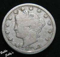 1883 WITH CENTS LIBERTY HEAD 'V' NICKEL <> VG DETAILS
