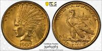 1907 10 INDIAN GOLD EAGLE PCGS MS64