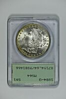 1884-O O/O VAM 9 ACTUALLY PCGS MINT STATE 64 MORGAN DOLLAR IN 1ST GEN OLD GREEN HOLDER