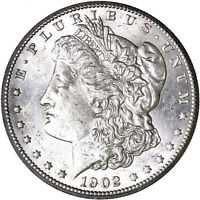1902 O MORGAN SILVER DOLLAR ABOUT UNCIRCULATED AU SEE PICS L610