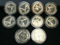 10 COIN 1988 S PROOF OLYMPIC SILVER DOLLAR LOT OF TEN IN CAP