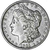 1901 MORGAN SILVER DOLLAR  FINE VF CLEANED SEE PICS C313