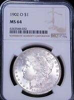 1902-O MORGAN DOLLAR NGC MINT STATE 64 BLAST WHITE FROSTY LUSTER PQ JUST GRADED D29