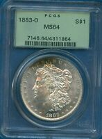 1883 O PCGS MINT STATE 64 MORGAN SILVER DOLLAR $1 US MINT 1883-O PCGS MINT STATE 64 PQ COIN OGH