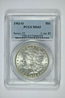 1902-O PCGS MINT STATE 63 MORGAN DOLLAR - PRICE GUIDE $100
