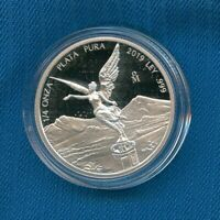 2019 MEXICO FRACTIONAL ONZA PROOF LIBERTAD WINGED VICTORY 1/4 OZ SILVER -