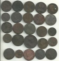 25 COLONIAL ERA COPPERS