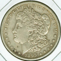 1893 O MORGAN SILVER DOLLAR - CHOICE VF
