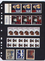 ANCHOR 25 STOCK PAGES 5S 5 ROWS  BLACK SHEETS DOUBLE SIDED FOR BOOKLET STAMPS.