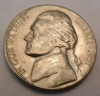 1957 D JEFFERSON NICKEL  AU   ALMOST UNCIRCULATED
