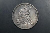 1863 SEATED LIBERTY HALF 50C XF EXTRA FINE 268A 024