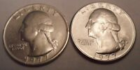 1977 P & D WASHINGTON QUARTER COIN SET 2 COINS