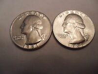 1981 P & D WASHINGTON QUARTER COIN SET 2 COINS