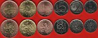 CZECH REPUBLIC SET OF 6 COINS: 1   50 KORUN 2010 2013 UNC