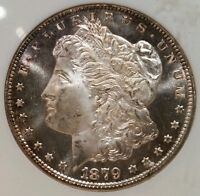 1879 S MORGAN DOLLAR GRADED MINT STATE 65 BY NGCLOOKS PL
