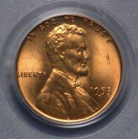 1953-D 1C LINCOLN CENT  RED   MINT STATE 66RD PCGS