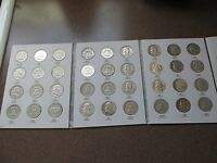 COMPLETE SET OF FRANKLIN SILVER HALF DOLLARS 1948 1963D W/SEVERAL BU CONDITION