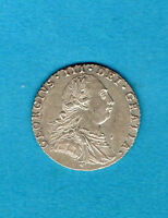 1787 SILVER SIXPENCE COIN. GEORGE III.   6D.