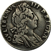 1700  WILLIAM III OF GREAT BRITAIN SILVER SIXPENCE COIN