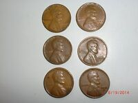- USA   6  LINCOLN WHEAT CENTS - 1953-19561953D-1956DTHREE PAIRS   7CK