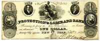 $1 PROTECTION & LOMBARD BANK JERSEY CITY NJ   CU 1825  NEW JERSEY OBSOLETE
