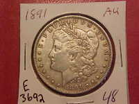 1898 S MORGAN SILVER DOLLAR - CLEANED AU/UNC - SEE PICS E3705