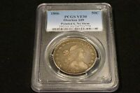 1806 PCGS VF30 CERTIFIED DRAPED BUST 50C POINTED 6 NO STEM OVERTON 109