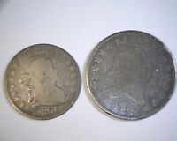 1795 FLOWING HAIR HALF , 1806 DRAPED BUST QUARTER  TAKE A LOOK