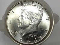 1964 P SILVER KENNEDY HALF DOLLAR BEAUTY FROM ORIGINAL ROLL A456
