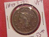 1849 P LARGE CENT   VF   SEE PICS E4878
