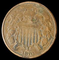 1870 TWO CENT PIECE KEY DATE BETTER GRADE COIN 2C $ SHIPS FREE