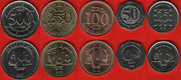 LEBANON SET OF 5 COINS: 25 500 LIVRES 1996 2009 UNC