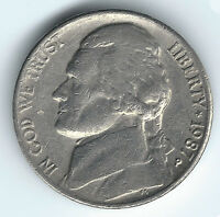 1987 P JEFFERSON NICKEL FIVE CENTS USA UNGRADED UNCERTIFIED