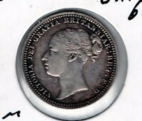 1880 GREAT BRITAIN 6P GREAT LOOKING WORLD SILVER MINOR FREE SHIP IN THE USA