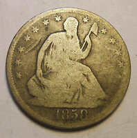 1858 O SEATED HALF DOLLAR  R1
