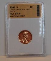 4 COINS   1968 S PROOF LINCOLN MEMORIAL CENTS   K3