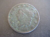 1829 MATRON OR CORONET HEAD LARGE CENT COIN 1C
