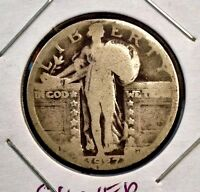 1927  25C STANDING LIBERTY SILVER QUARTER COIN SHIPS FREE