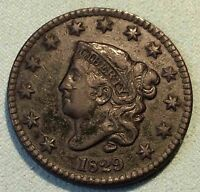 1829 LARGE CENT N2 R2  SHARP PRETTY COIN NICE