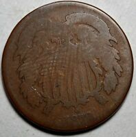1870 TWO CENTS KM 94-FR-FREE USA SHIPPING-FAIR