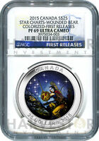 2015 CANADA SILVER STAR CHARTS   THE WOUNDED BEAR   NGC PF69 FIRST RELEASES  NEW