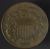 1869 TWO CENT FINE R