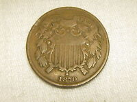 1870 TWO CENT A REAL  COIN UNCIRCULATED   01-102